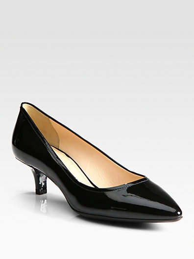 Prada Patent Leather Pointed Toe Pumps