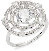 Nadri Cubic Zirconia Pave Accented Round Ring