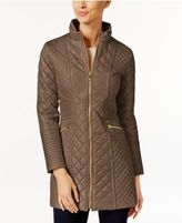 Via Spiga Quilted Water-Resistant Raincoat
