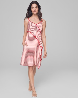 Soma Intimates Short Ruffle Front Dress with Built-In Shelf Bra
