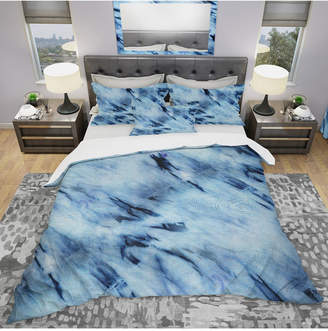 Designart 'Tie Dye' Modern and Contemporary Duvet Cover Set - Twin Bedding