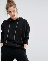 Daisy Street Oversized Hoodie With Chain Details