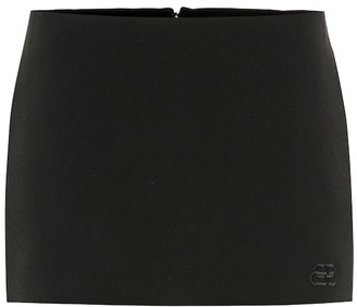 Balenciaga Stretch-wool skort