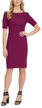 DKNY Side-Ruched Sheath Dress