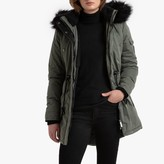 Superdry Nadar Mid-Length Parka with Faux Fur Hood and Pockets