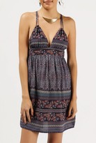 Azalea V-Neck Strappy Print Sundress