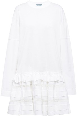 Prada Ruffled Hem Dress