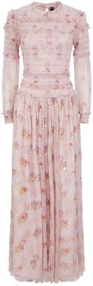 Needle & Thread Think Of Me Sequin Floral Print Gown