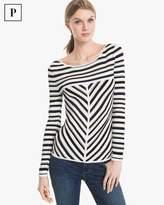 White House Black Market Petite Seaside Stripe Pullover