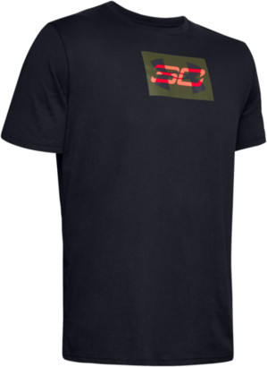 Under Armour SC30 Overlay T-Shirt - Black / Beta Red Guardian Green - Curry, Stephen