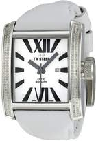TW Steel Men's CE3015 CEO Goliath White Leather Strap Watch