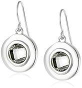Karen Kane Cabo Disc Silver Tone Drop Earrings