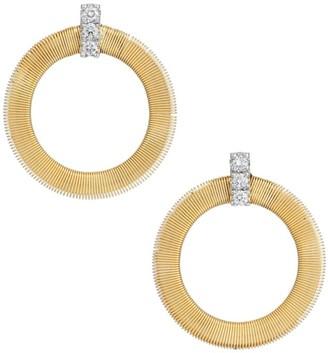 Marco Bicego Masai 18K Yellow Gold & Diamond Coil Circle Stud Earrings