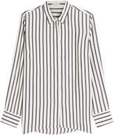 Brunello Cucinelli Striped Silk Blouse