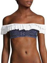 Jonathan Simkhai Ruffled Off-the-Shoulder Bikini Top
