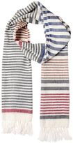 Salvatore Ferragamo Linen & Silk Striped Scarf