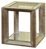 Stylecraft Side Table Glass with Weathered Wood