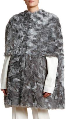 Stella McCartney Faux Fur Capelet Coat