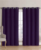 "Victoria Classics Neil Blackout Grommet 52"" x 90"" Curtain Panel Bedding"