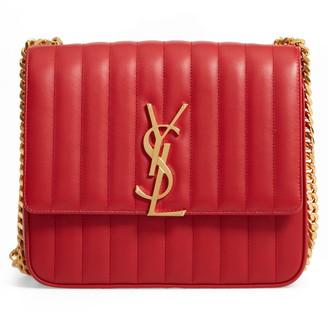 Saint Laurent Large Vicky Leather Crossbody Bag