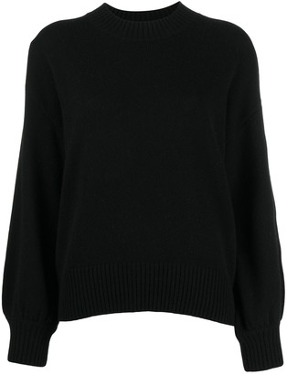 Allude Crewneck Curved Jumper