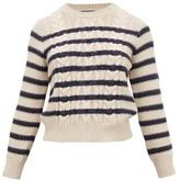 Max Mara Chiffon Sweater - Womens - Cream Navy