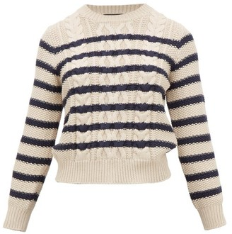 Max Mara Chiffon Sweater - Womens - Cream Navy