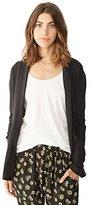Alternative Women's Rib Sleeve Jersey Wrap Cardigan