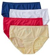 Fruit of the Loom Women's 4 Pack Breathable Low-Rise Brief Panties