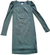 Antik Batik Khaki Cotton Dress for Women