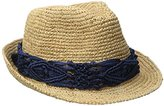 Physician Endorsed Women's Malia Crochet Raffia Hat with macram Trim