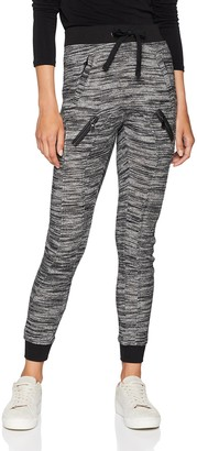 Urban Classics Women's Fitted Melange Zip Sweat Sports Pants