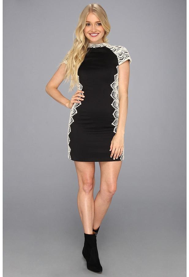 Kensie KS9K9576 Dress (Black Combo) - Apparel
