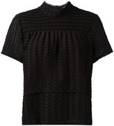 Proenza Schouler frayed top - women - Silk/Cotton - L