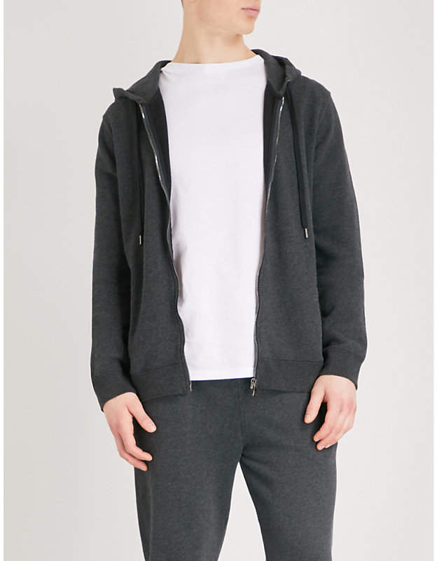 Derek Rose Devon marl-patterned cotton hoody