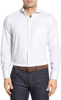 John W. Nordstrom Regular Fit Cutaway Collar Print Sport Shirt