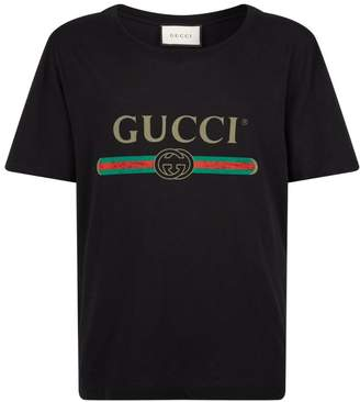 Gucci Cotton Faded Logo T-Shirt