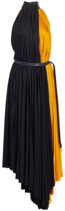 Proenza Schouler Pleated Colorblock Jersey Midi Dress