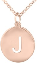 14K Rose Gold-Plated Personalized Initial Pendant