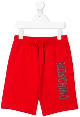Moschino Kids logo drawstring shorts