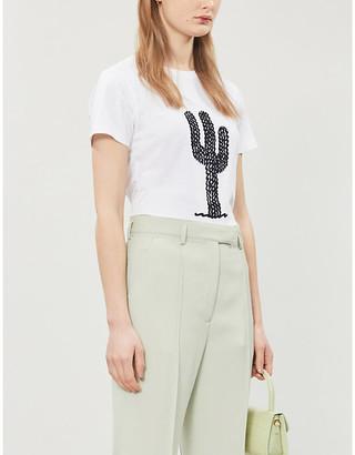 Bella Freud Cactus organic-cotton jersey T-shirt