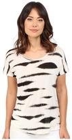 Kensie Animal Stripe Top