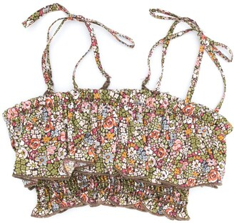 The New Society Emma floral-print bikini top