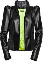 Leka Leather & Jacquard Jacket