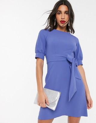 Closet London Closet mini dress with volume sleeve in lilac