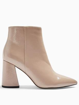 Topshop Point Ankle Boots - Taupe
