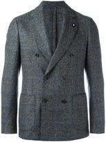 Lardini double-breasted patch pockets blazer