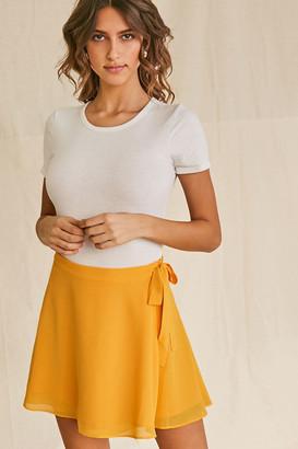 Forever 21 Chiffon Wrap Skirt