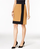 Nine West Crepe Framed A-Line Skirt