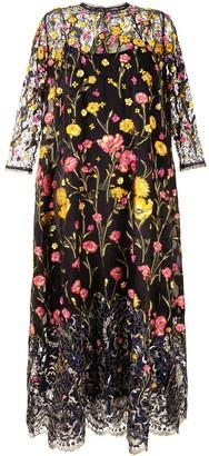 Biyan Embroidered Evening Dress